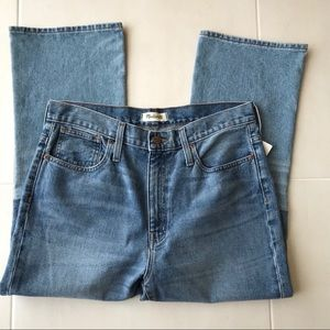 Madewell Retro Crop Boot Cut Two Tone Denim Jeans